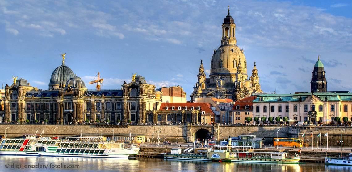 Dresden Elbe Frauenkirche