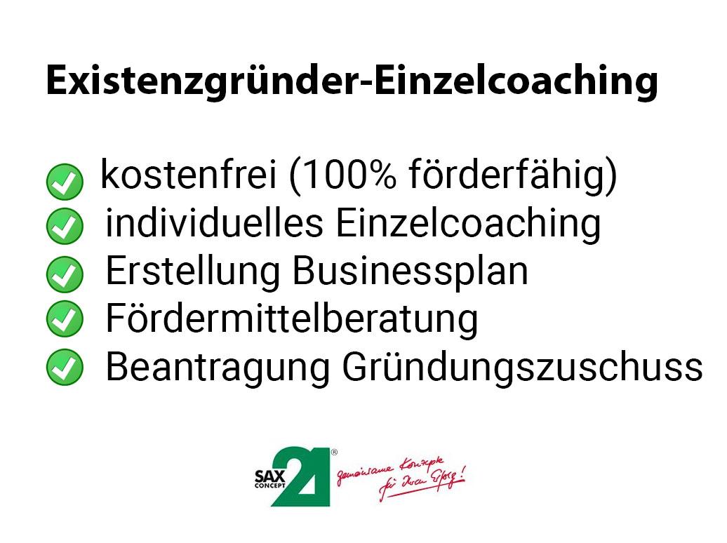Individuelle Termine für Existenzgründer-Einzelcoaching Dresden